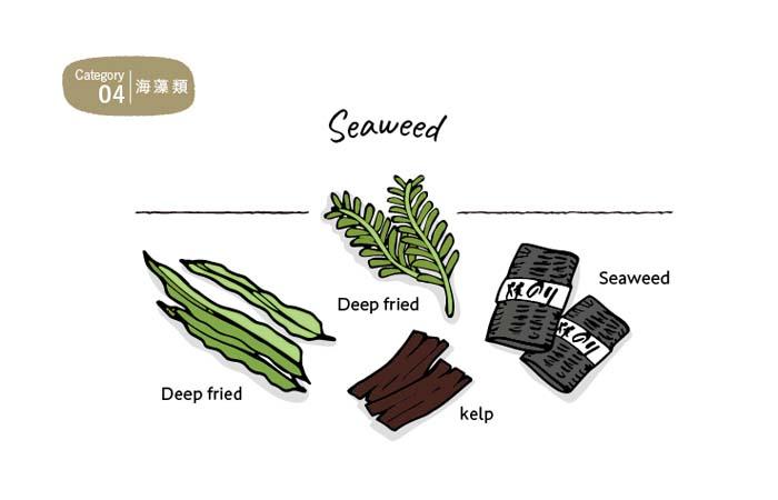 食物繊維やミネラル豊富な海藻類