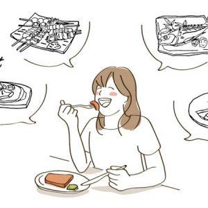 たんぱく質をしっかり食べる女性