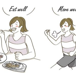 たっぷり食べて、かるい運動を!