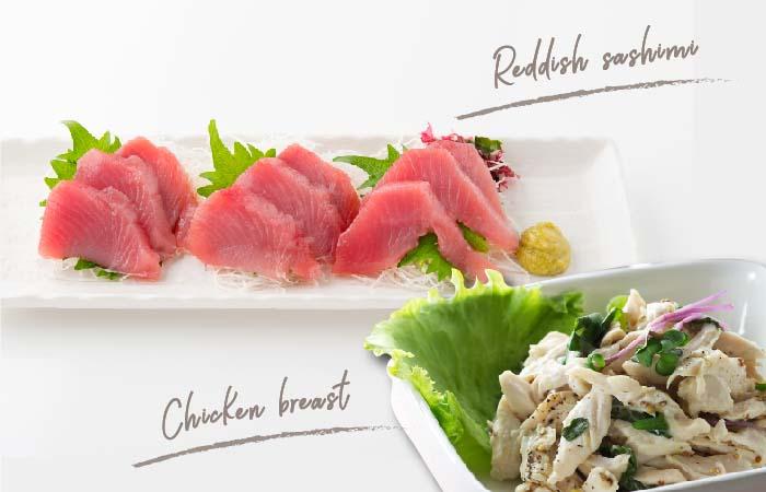 ビタミンB6が豊富な、赤身魚や鶏ささみ