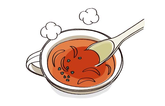 スープに使う具材は炒めよう