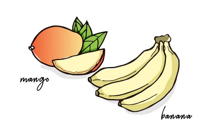 マンゴーやバナナは、糖質に要注意