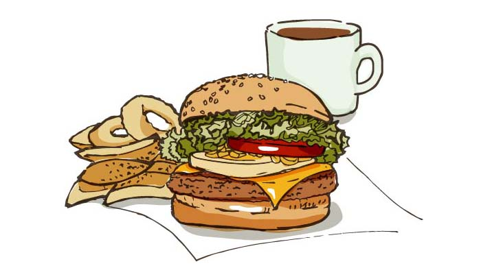 ハンバーガーのイラスト